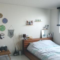 * 벽 원형 액자 : 원단과 수틀 구입하여 만든 DIY 제품, 수틀 인테리어