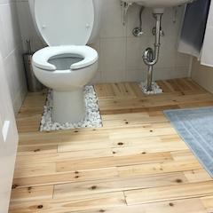 반건식 화장실  2중 샤워커튼 조립식 편백나무