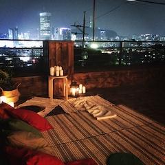 시원한 여름밤. 옥상 활용기~옥상 영화관 만들기😎
