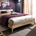 소피아 원목 평상형 침대(매트제외-퀸)