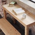 네이쳐 원목 통다리 책상 겸 테이블 5size