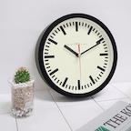 200레트로무소음벽시계(블랙