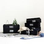 Living/Multi Black Basket 7type