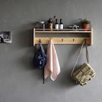 원목벽선반 / 옷걸이선반