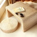 라탄 핸드메이드 다용도 수제 티 차 테이블