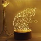 LED 3D 캣 무드등