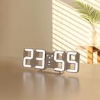 퓨어 미니 LED 벽시계 – 화이트/오렌지