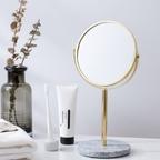 천연 대리석 골드 탁상 거울 비앙코 카라라 화장거울