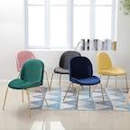 비틀 벨벳 인테리어 의자 4color