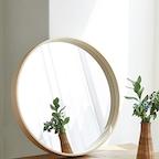 자작나무 북유럽 원형거울 (내츄럴)