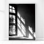 흑백 창문 그림 인테리어 액자 포스터
