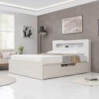 [기간한정][선착순쿠폰] 테라 LED 수납침대+매트선택 3size 3colors(SS/Q/K)