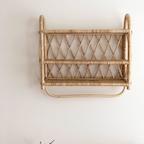 [기간한정] 마샤 빈티지 라탄 벽선반 2colors