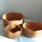 [기간한정] 라탄 물결바구니 3 SIZE