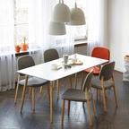 비비체어 식탁의자 5colors (패브릭/인조가죽)
