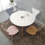 라움 엔젤 화이트 원형테이블 스툴 의자 (5size)