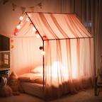 하우스 키즈 침대 그레이스 케노피 핑크