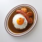 브라운 블루 라인 타원 접시 / 오벌 플레이트 / 브런치 샐러드 그릇