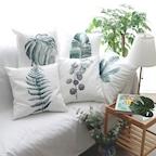 북유럽감성 그리너리 트로피컬 나뭇잎 프린팅 쿠션 HAY 5type
