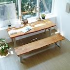 소나무 통원목 에코 원목책상세트 OB_4size 2colors (벤치포함)