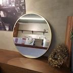 아트벨라 골드 원형 거울 650x650