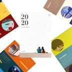 2020 기마늘 일러스트 포스터 달력