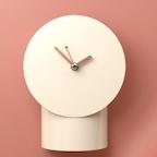 Softpaper Pipe clock Ivory