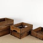 빈티지 브라운 사과상자 / 빈티지 나무상자 완제품 / vintage apple box