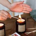 미드나잇 컬렉션 갈색병 소이 캔들 8oz (amber jar candle) / 나그참파향