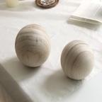 원목 우드볼 2size 나무공/우드오브제 인테리어 소품