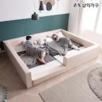 노르딕 패밀리 저상형 가죽 침대 1+1(밸런스형/가드형/벙커형)