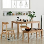 [7%쿠폰] 로하 원목 4인식탁/식탁세트 DIY
