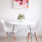 [기간한정] Marcus 2인용 다용도 원형테이블 3colors+의자추가 선택