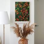 동백꽃 플라워액자 - 인테리어 포스터 액자