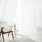 호텔식 나비주름 헤이즈 쉬폰커튼(150x233cm)