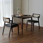 라떼 원형 2인/4인 원목 테이블/식탁 세트