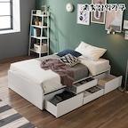 [쿠폰할인] NEW 앤디 헤드리스 4단 멀티수납침대(SS/Q) 2colors