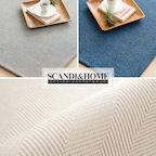 [주말특가] 헤링본 사이잘룩 라탄 러그 카페트 4colors 4size
