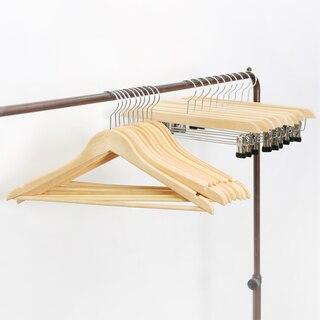 원목기획옷걸이set(원목옷걸이10P + 원목 치마바지걸이 10P)