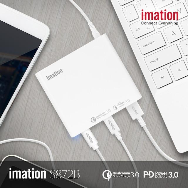 이메이션 USB-PD/QC3.0 87W 3포트 충전기 S872B - 화이트