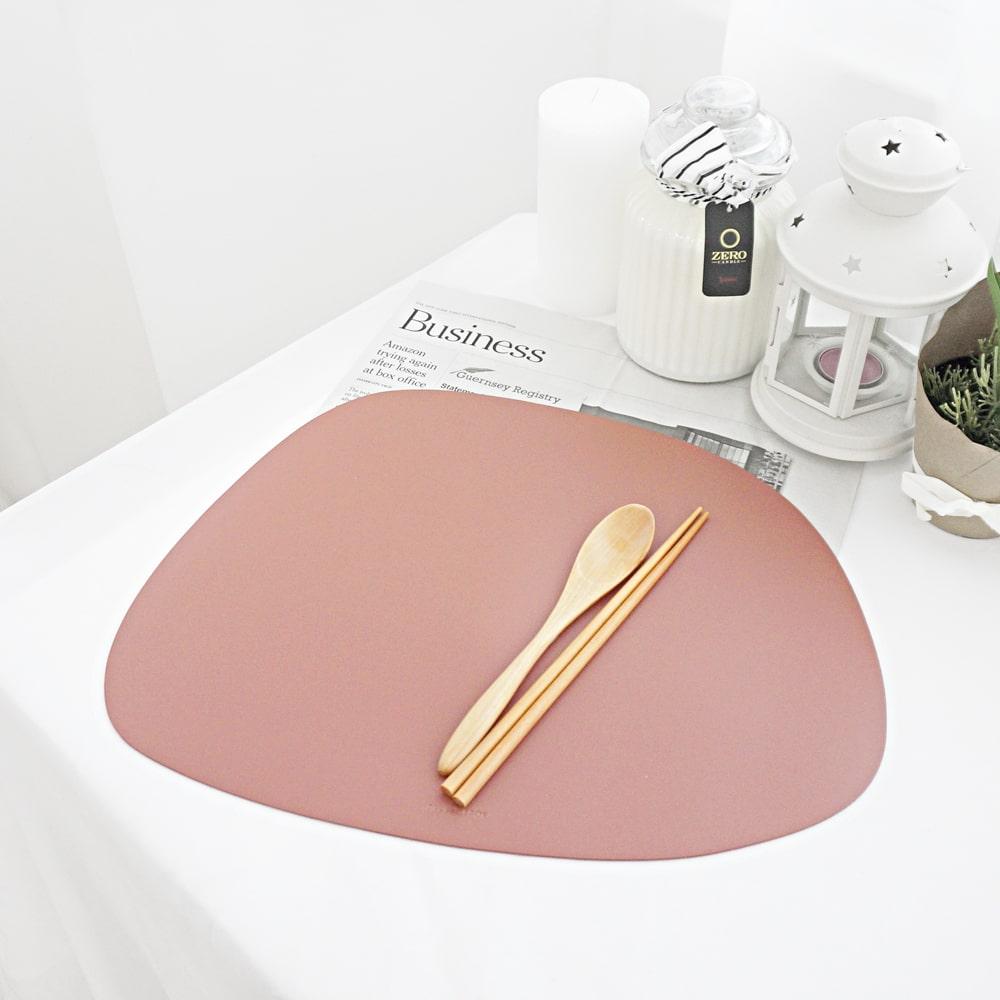 양면방수 조약돌 가죽 테이블매트 식탁매트 6colors