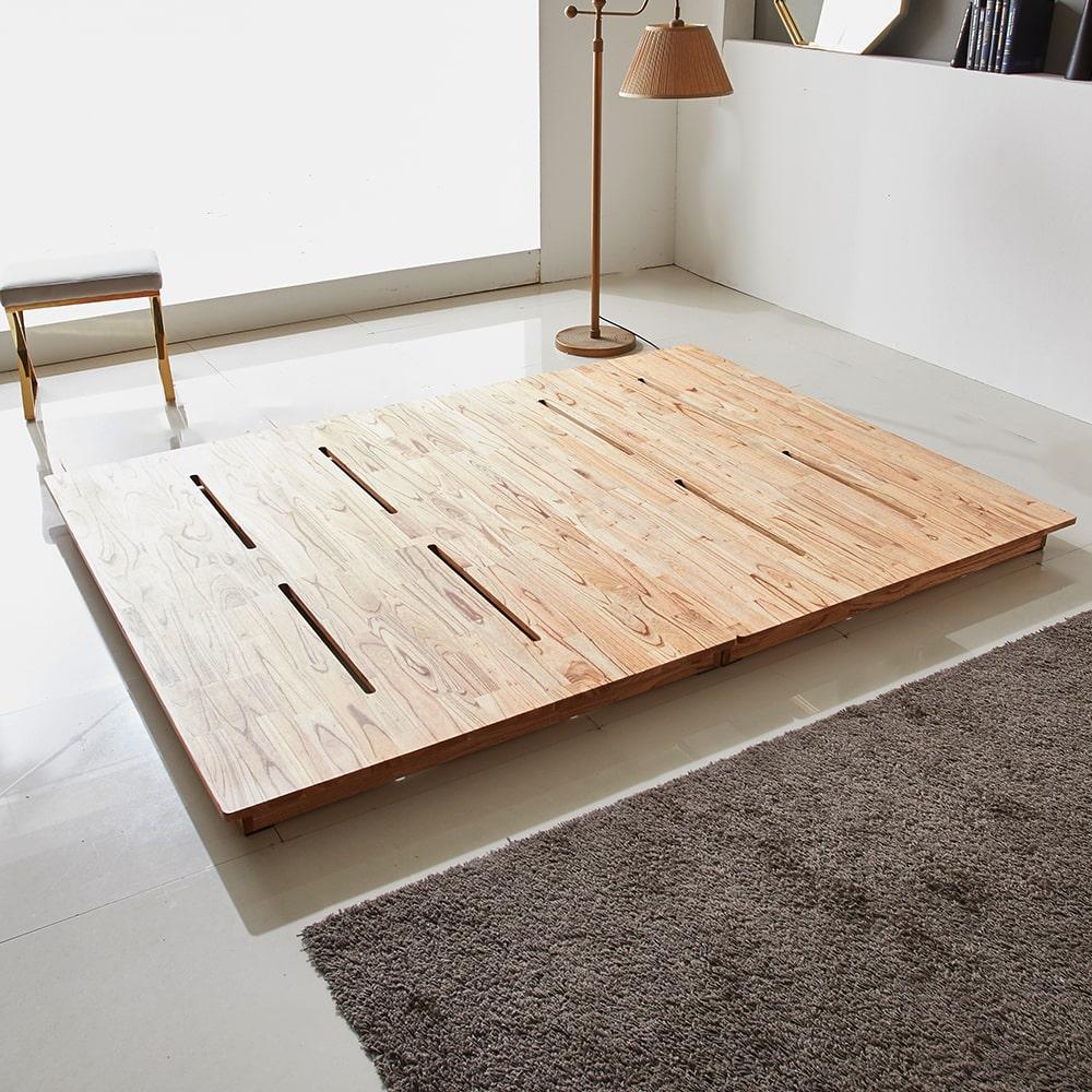 리지트 원목 평상형 침대 프레임 (높이10cm)